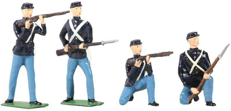 W Britain 49027 American Civil War Union Infantry Set No.1 - Gloss Finish