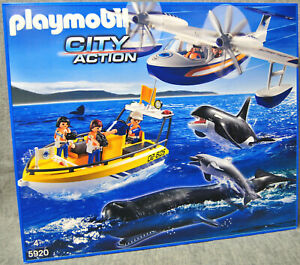 Playmobil 5920 Expédition marine d'observation de baleines avec l'avion City Action New