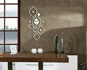 Das Bild Wird Geladen Moderne Wanduhr Design Wandtattoo Dekoration Uhren NEU  Spiegel