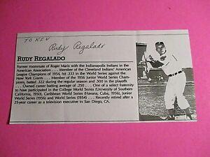 Rudy-Regalado-Cleveland-Indians-Signed-AUTOGRAPH-AUTO-Photograph