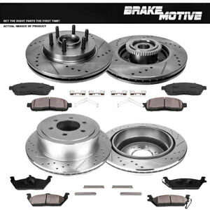 2006-2008 Lincoln Mark LT KT011641 Fits: 2004-2008 Ford F150 OE Series Rotors + Ceramic Pads Max Brakes Front Premium Brake Kit 4WD