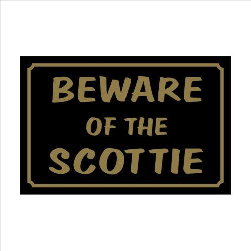 Diffidare degli Scottie 160mm x 105mm in plastica segno PET Adesivo-Casa Giardino