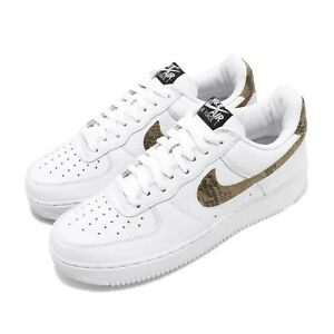 Nike-Air-Force-1-Low-AF1-Ivory-Snake-Snakeskin-White-Men-Casual-Shoes-AO1635-100