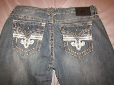 mens xtreme couture geo flap relaxed straight  jeans 32x32 nwt  med wash