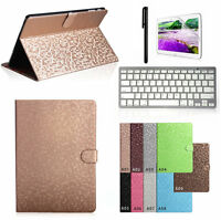 "Bluetooth Keyboard + Bling Leather Case Cover For Samsung Galaxy Note 10.1"" P600"