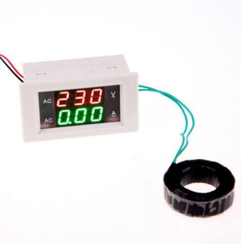 AC 100-300V//200A Digital Volt Ampere Amp Dual Meter Voltmeter LCD Guage L2KO