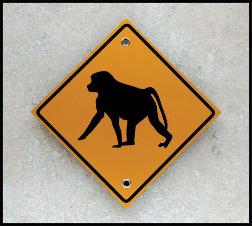 Small Reflective Marker Safari Trail Baboon Crossing Unique Africa Decor