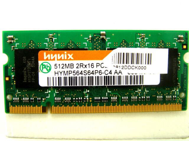 Hynix 512MB RAM 2RX16 PC2-4200S-444-12 HYMP564S64P6-C4 AA DDR2-SODIMM #kz-620