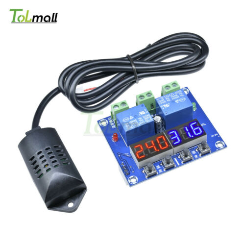DC 12V LED Digital Display XH-M452 Thermostat Temperature Humidity Controller