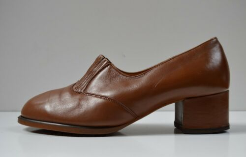 50's Red da Bale Shoe 60's True Ddr pumps in donna Vintage Star Brown Made Gdr 0OOx6n