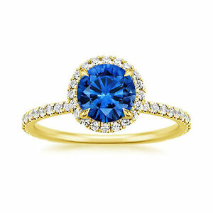 Natural-1-65-Ct-Blue-Sapphire-Gemstone-Rings-Solid-14K-Yellow-Gold-Diamond-Rings