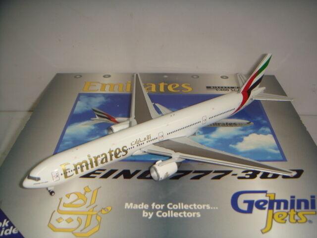Gemini Jets 400 Emirates EK B777-300  Late 1990 S Couleur  1 400