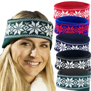 Winter Fleece Norweger Stirnband Fleece Ohrenwärmer Ohrwärmer Ohrenschützer
