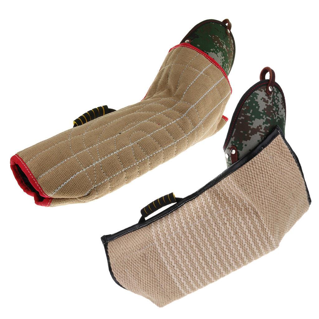 2x per cane Morso Tuta di protezione del braccio manica di formazione per Pastore Tedesco