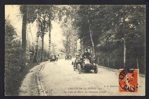 cpa-Cachet-LISIEUX-en-1907-Course-Automobile-Car-Race-FRANCE-Route-de-PARIS