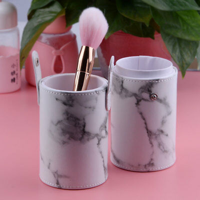 pu leather makeup cosmetic cup box case brush pen holder