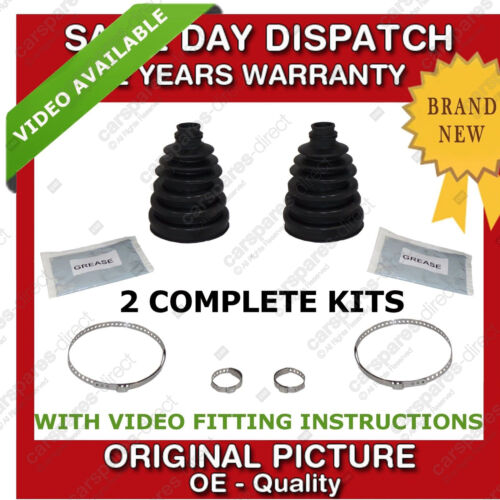 2x SAAB OUTER CV UNIVERSAL STRETCH BOOT KIT NEW