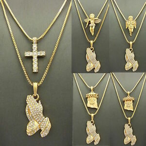 Mens iced out gold jesus praying hand micro angel pendant box chain image is loading mens iced out gold jesus praying hand micro aloadofball Gallery