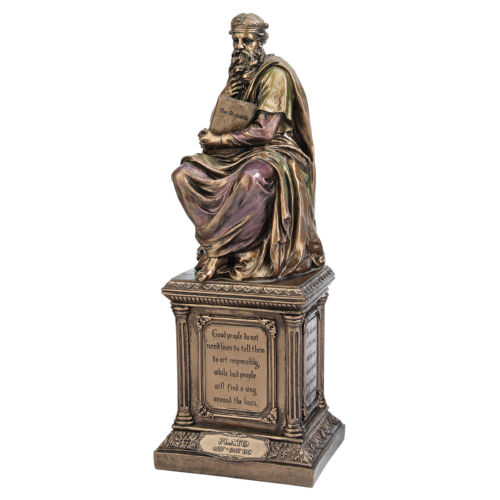 Ancient Greek Philosopher Plato Bronze Finish Statue