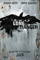 The Lone Ranger 27x40 D/s Original Movie Poster One Sheet Mint Johnny Depp 2013