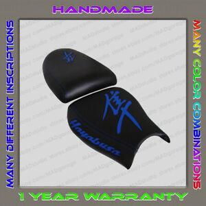 Custom-Black-Blue-Seat-Cover-Suzuki-GSX1300R-Hayabusa-99-07-1-Gen