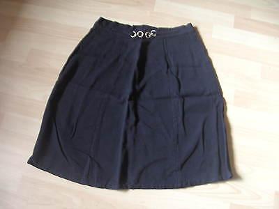 Damen Rock Weite Form Gr. 46 (maße Beachten) Schwarz - Vintage Upcyclen