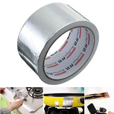 50mm x 17m Roll Silver Adhesive Aluminium Foil Repairs Heating Duct Sealing Tape