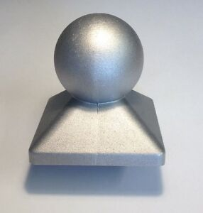 1 2 x Pfostenkappe Kugel feuerverzinkt 71 x 71 mm Stück
