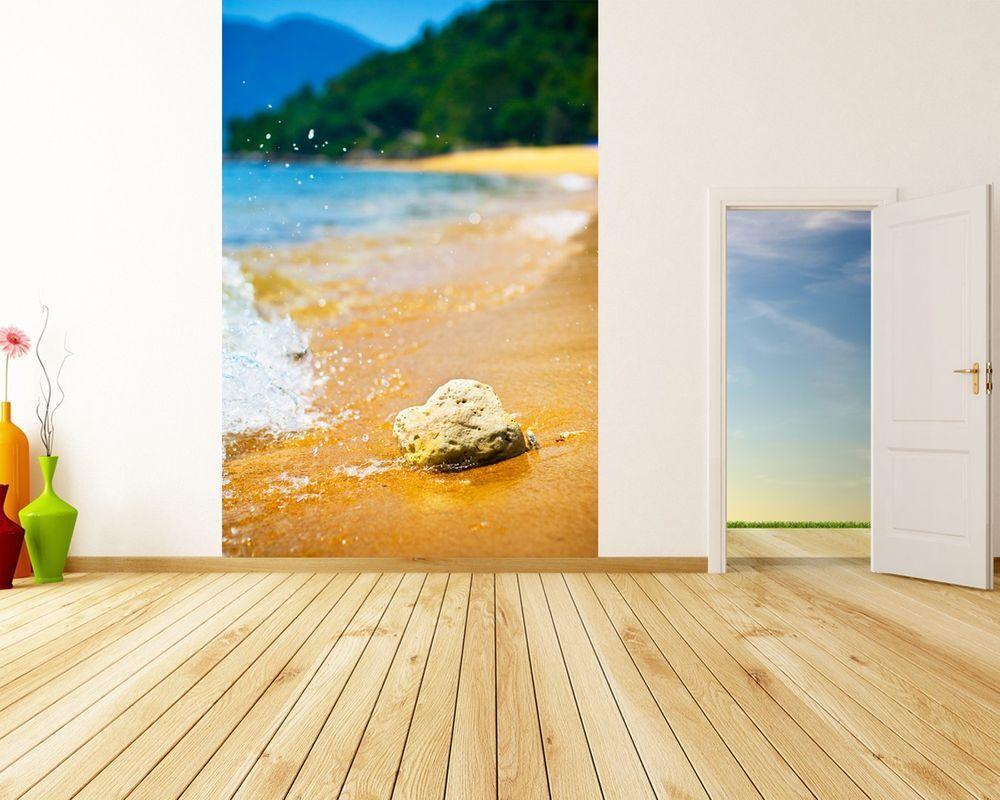 Fototapete Tropischer Strand mit Stein