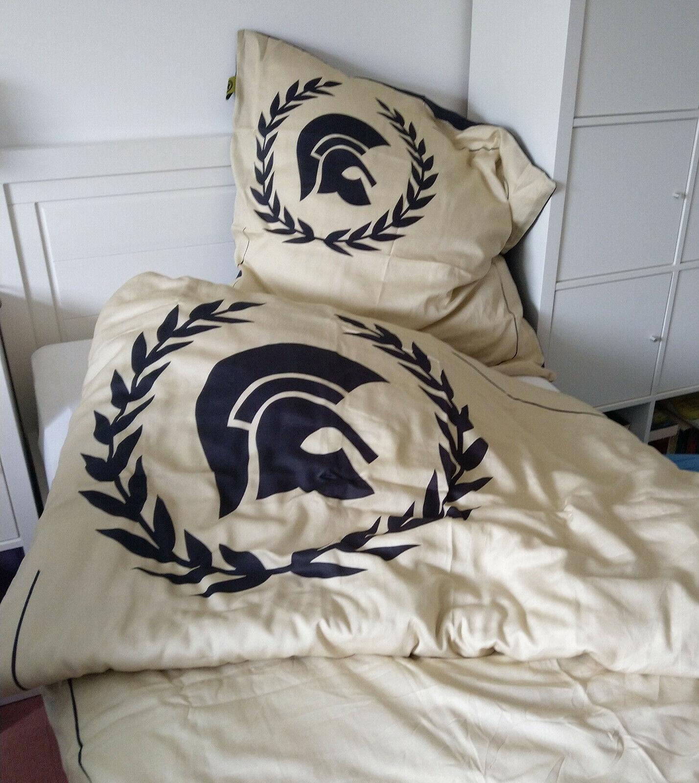 Bed linen Laurel Trojan Bettwäsche mit Reißverschluss Mako-Satin 135x200  80x80
