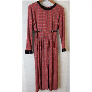 Vintage 90s Tie Back Midi Dress 10M