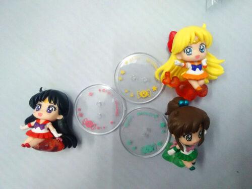 6 PCS Sailor Moon Chibi Moon Mars Jupiter Pluto figure collection Mini Figures