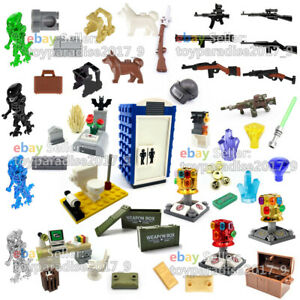 Military-City-SWAT-Soldiers-Army-Weapon-Gun-Shield-Fit-Lego-Minifigures-Mega