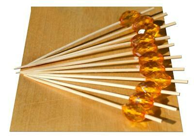 Ambra Cristallo Perline Legno Spiedino – 9 Cm X 100-goto- Smoothing Circulation And Stopping Pains