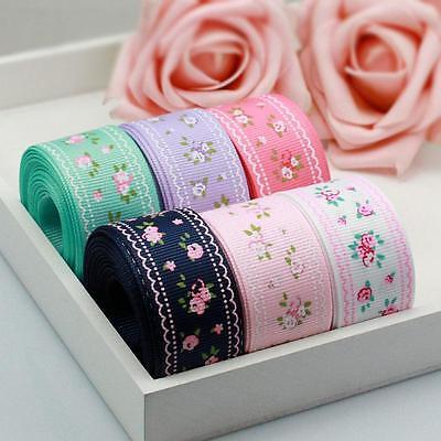 "1"" 25mm Quality Garden Floret Grosgrain Ribbon Craft supplies Wholesale 152#"