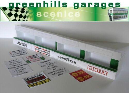 Fermeture SCALEXTRIC Slot Car Building Standard Pit Boîtes Kit Échelle 1:43 B....