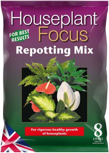 Houseplant Focus Repotting Mix Compost for House Plants 8 Litres