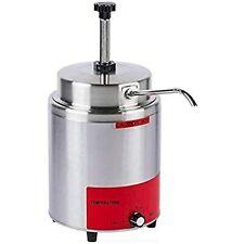 35 Qt Electric Countertop Nacho Cheese Sauce Warmer Pump Dispenser 120v 550
