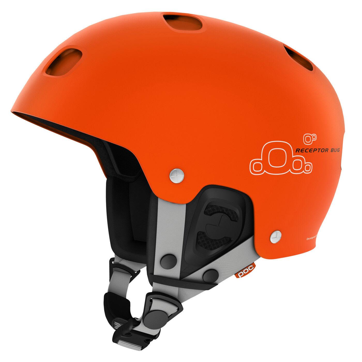 Poc Adult Receptor Bug Ski Skiing Snow Helmet Iron Orange Medium M 55 56 cm