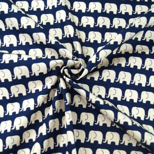 100/% Cotton Poplin Fabric By Fabric Freedom Walking Elephant Tribe Safari