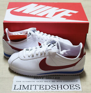 Image is loading NIKE-WMNS-CLASSIC-CORTEZ-LEATHER-VARSITY-RED-WHITE-
