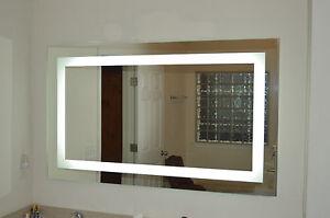 mam86036 60 wide x 36 tall lighted vanity mirror led make. Black Bedroom Furniture Sets. Home Design Ideas