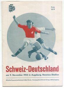 Svizzera Augsburg Internazionale 11 Svizzera 1952 Germania 09 Fiammifero zxvwSYq6z