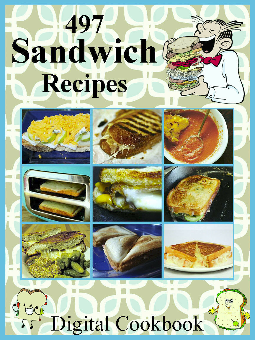 497 Delicious Sandwich                                     Recipes E-Book Cookbook CD-ROM