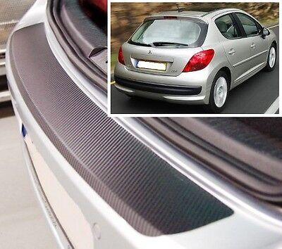 Peugeot 207 3/5 door - Carbon Style rear Bumper Protector