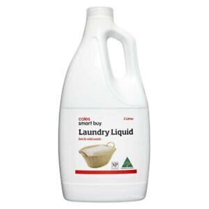 Coles Australian Made Smart Buy Hot & Cold Wash Laundry Liquid Lemon 2L