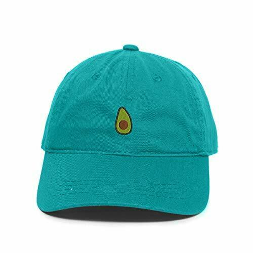Avocado Guacamole Emoji Baseball Cap Embroidered Cotton Adjustable Dad Hat