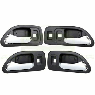 Chrome//Blue Set of 2 PCS Front Interior Inside Door Handles for 94-97 Accord