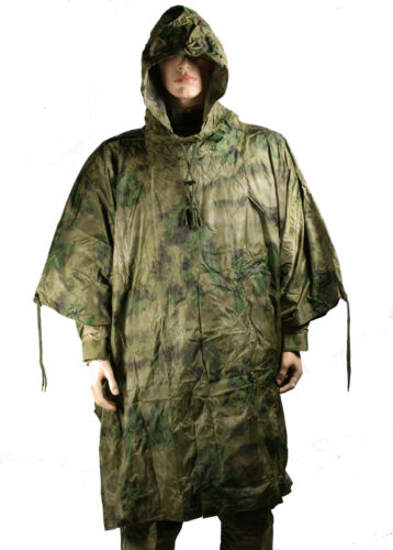 PU Coated Rain Poncho New MIL TACS FG Nylon Ripstop