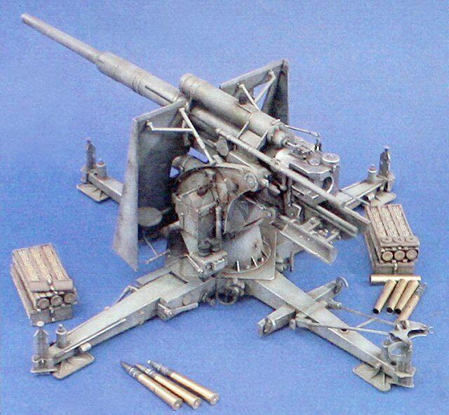88mm FLAK 37 Anti-Aircraft Tank Artillery Gun Verlinden Kit 970 120mm 1 15 1 16